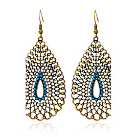 Women's Turquoise Drop Earrings - Turquoise Vintage, Oversized Gold For Daily Casual