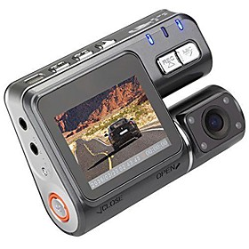 I1000 720p Car DVR 90 Degree Wide Angle 1.8 inch LCD Dash Cam with Night Vision / Loop recording Car Recorder