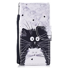 Case For Sony / Sony Xperia XA Xperia XA1 / Xperia E5 Wallet / Card Holder / with Stand Full Body Cases Cat Hard PU Leather for Sony Xperia XZ1 / Sony Xperia X