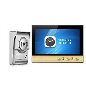 9 Inch Color Recording Monitor Video Door Phone Intercom System with Night Vision Camera Door Bell Intercom