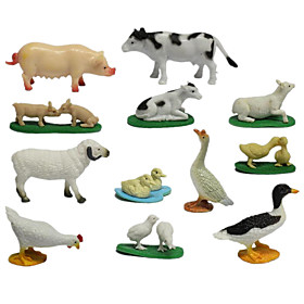 Action  Toy Figures Toys Animals Chicken Duck Pig Sheep Cow Animals Animal Pieces Kids Gift 6399329