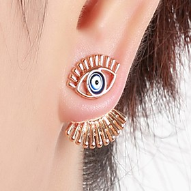 Women's Geometric Stud Earrings Front Back Earrings / Ear Jacket - Statement, Fashion, Hip-Hop Gold / Silver / Rose Gold For Club Bar