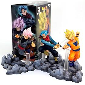 anime action figurer inspireret af dragon ball goku pvc 10 cm model legetøj dukke legetøj 6431889