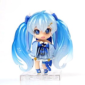 Anime Action Figures Inspired by Vocaloid Snow Miku PVC 10 CM Model Toys Doll Toy 6418619