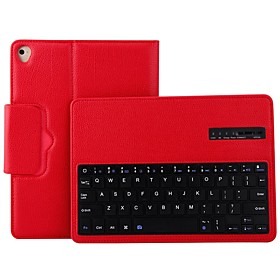 Case For Apple / iPad Air / iPad Air 2 iPad Air 2 / iPad (2017) with Keyboard Full Body Cases Solid Color Soft PU Leather for iPad Air / iPad Air 2 / iPad (201