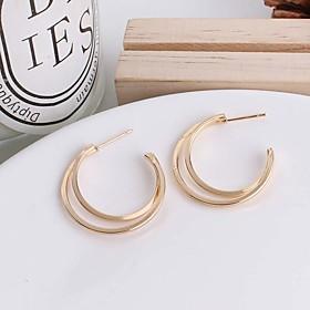 Women's Stud Earrings Huggie Earrings Earrings Ladies Simple European Fashion Jewelry Gold / Silver For Causal Daily
