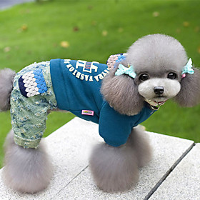 Dog Jumpsuit Dog Clothes Casual/Daily Letter  Number Blue Red Purple Costume For Pets 6418771