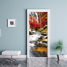 Landscape Scenic Wall Stickers 3D Wall Stickers Decorative Wall Stickers Door Stickers, Paper Vinyl Home Decoration Wall Decal Wall