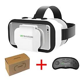 vr shinecon 5.0 óculos realidade virtual x caixa óculos 3D para 4.7 - telefone de 6,0 polegadas com controlador 6458404