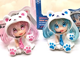 Anime Action Figures Inspired by Vocaloid Snow Miku PVC 7 CM Model Toys Doll Toy 6431891