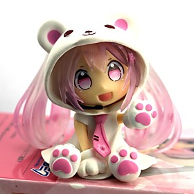 Anime Action Figures Inspired by Vocaloid Sakura Miku PVC 7 CM Model Toys Doll Toy 6428005