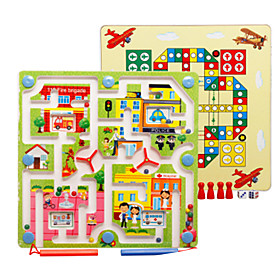 Wooden Puzzles Maze Maze Toys Plane Classic Theme Vehicles Stress and Anxiety Relief Decompression Toys Classic Kids 2 Pieces 6451992