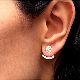 Women's Stud Earrings Front Back Earrings / Ear Jacket - Simple, Vintage, Fashion Gold / Silver For Daily Work
