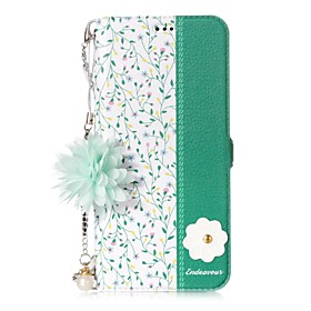 Case For Samsung Galaxy S8 Plus / S8 Card Holder / with Stand / Flip Full Body Cases Flower Hard PU Leather for S8 Plus / S8 / S7 edge