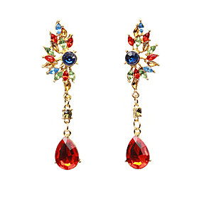Women's Crystal Drop Earrings - Crystal, Imitation Diamond Drop Fashion Red / Green For Daily Going out