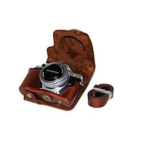 dengpin pu læder kamera taske taske til olympus e-m10 mark iii em10 mark3 (14-42mm ez linse (assorterede farver) 6539223