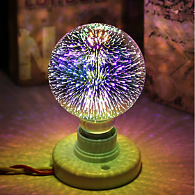 1pc 5 W 450 lm E26 / E27 LED Globe Bulbs / LED Filament Bulbs G95 28 LED Beads Integrate LED Decorative / Starry / 3D Firework Multi-colors 85-265 V / RoHS
