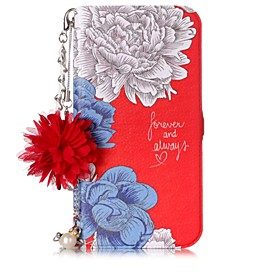 Case For Apple iPhone X / iPhone 8 Card Holder / with Stand / Flip Full Body Cases Word / Phrase / Flower Hard PU Leather for iPhone X / iPhone 8 Plus / iPhone