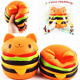 LT.Squishies Squeeze Toy / Sensory Toy Stress Relievers Round Cat Emoji Hamburger Animal Office Desk Toys Stress and Anxiety Relief 6517574