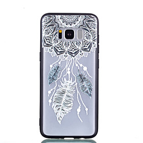 Case For Samsung Galaxy S8 Plus / S8 Transparent / Embossed / Pattern Back Cover Dream Catcher / Feathers Hard PC for S8 Plus / S8
