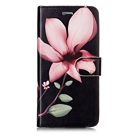 Case For Apple iPhone X / iPhone 8 Wallet / Card Holder / Flip Full Body Cases Flower Hard PU Leather for iPhone X / iPhone 8 Plus / iPhone 8