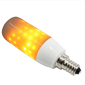 ZDM 1pc 3 W 250-280 lm E14 / E26 / E27 LED Globe Bulbs / LED Corn Lights 108 LED Beads SMD 2835 Creative / Decorative / Flame Flickering Yellow 85-265 V