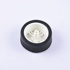 Crab Kingdom DIY Educational Car Parts Car Wheel  TT Motor Tyre 1PCS Black and White#1