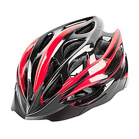 MOON Adults Bike Helmet 27 Vents CE Impact Resistant, Light Weight, Adjustable Fit EPS, PC Sports Road Cycling / Climbing / Cycling / Bike - Bule / Black / Whi