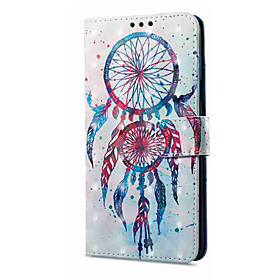 Case For Samsung Galaxy A8 Plus 2018 / A8 2018 Wallet / Card Holder / with Stand Full Body Cases Dream Catcher Hard PU Leather for A3(2017) / A5(2017) / A8 201