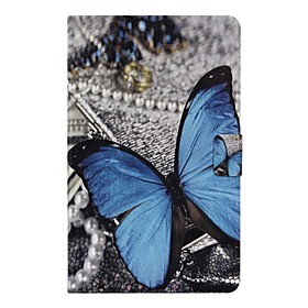 Case For Samsung Galaxy Tab A 10.1 (2016) Card Holder / with Stand / Flip Full Body Cases Butterfly Hard PU Leather for Tab A 10.1 (2016)