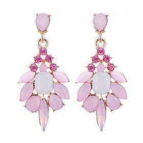 Women's Opal Crystal Drop Earrings - Opal, Imitation Diamond Drop Fashion, Elegant Gray / Pink / Light Green For Party Prom