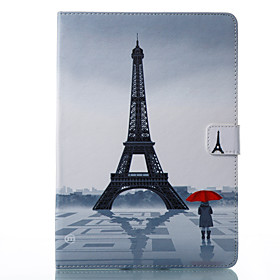 Case For Apple iPad Pro 10.5 / iPad (2017) Wallet / Card Holder / with Stand Full Body Cases Eiffel Tower Hard PU Leather for iPad Air / iPad 4/3/2 / iPad Pro