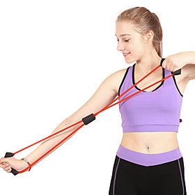 Resistance Band / Exercise Tube Rubber Strength Training Pull Physical Therapy Resistance Training Yoga Fitness Gym Workout For
