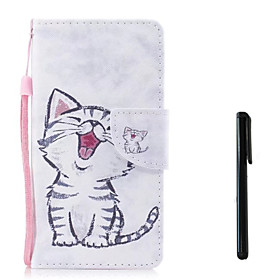 Case For Apple iPhone X / iPhone 8 Wallet / Card Holder / Flip Full Body Cases Cat Hard PU Leather for iPhone X / iPhone 8 Plus / iPhone 8