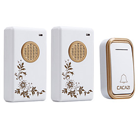 Ding dong Music One to Two Doorbell Sound adjustable Wireless Doorbell 200 Surface Mounted 6555089