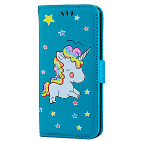 Case For Samsung S8 Plus / S8 Card Holder / with Stand / Flip Full Body Cases Unicorn Hard PU Leather for S8 Plus / S8 / S7 edge