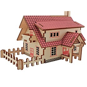 Wooden Puzzles Logic  Puzzle Toys House Shaped Professional Level Focus Toy Stress and Anxiety Relief Wooden Masquerade Birthday 6553432