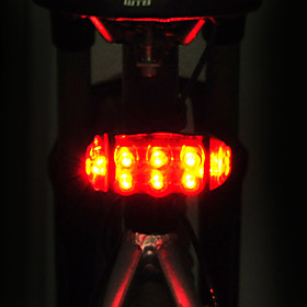LED Bike Light Rear Bike Tail Light LED Mountain Bike MTB Cycling Waterproof Adjustable Easy Carrying AA 15 lm AA Batteries Powered Red Cycling / Bike