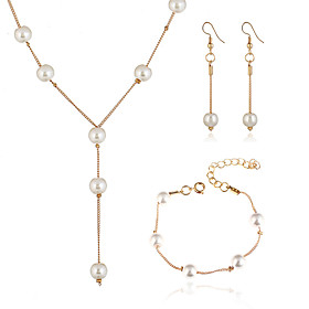 Women's Pearl Jewelry Set - Imitation Pearl European, Fashion, Elegant Include Gold / Silver For Party / Earrings