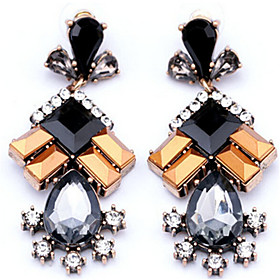 Women's Synthetic Tanzanite Crystal Drop Earrings - Crystal, Imitation Diamond Drop Fashion Rainbow For Daily Going out