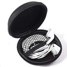 Ear Phone Bag Cable Organizer PU Leather Home  Garden