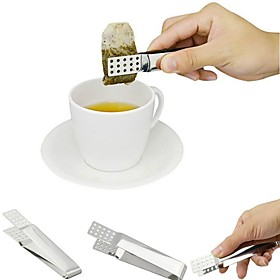 Stainless Steel Tea Bag Clip Teabag Squeezer Holder Heat Resistant Mini Food Tong Kitchen Tools