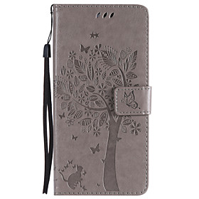 Case For Samsung Galaxy S9 Plus / S9 Wallet / Card Holder / with Stand Full Body Cases Cat / Tree Hard PU Leather for S9 / S9 Plus / S8 Plus
