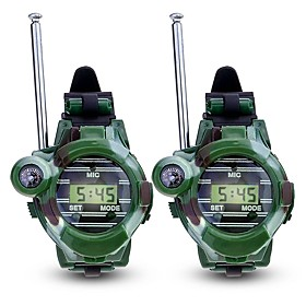 Walkie Talkie Multi-function, Compass, Wrist Watch for Outdoor Exercise / Camping / Hiking / Caving - Plastic / Plastic Shell 2 pcs