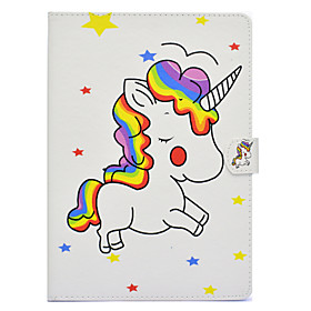Case For Apple iPad Air 2 / iPad Pro 10.5 / iPad (2017) Card Holder / Shockproof / with Stand Full Body Cases Unicorn Hard PU Leather for iPad Air / iPad 4/3/2