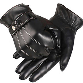 Sporty Full Finger Men's Motorcycle Gloves PU Leather/Polyurethane Leather Keep Warm Fleece Lining Sports 6599369