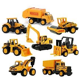 Mini Alloy engineering Car Truck Construction Truck Set Toy Truck Construction Vehicle Toy Car 1:64 8 pcs Kid's Boys' Girls' Toy Gift