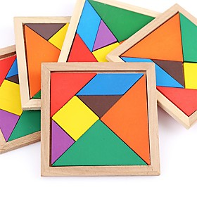 Wooden Puzzles Flat Shape Focus Toy Hand-made Wooden Birthday Family Universal Toy Baby Gift 6604141