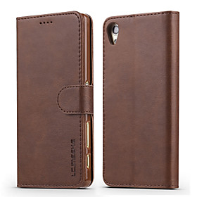 Case For Sony Xperia XZ / Xperia XA Wallet / Card Holder / Shockproof Full Body Cases Solid Colored Hard PU Leather for Sony Xperia XZ / Sony Xperia XA / Sony