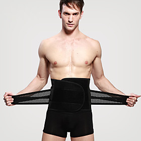 Lumbar Belt / Lower Back Support Corset Chinlon Spandex Fabric Elastic Breathable Trainer Casual Exercise  Fitness Ice Skate For Men's Sport